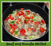 Beef and noodle skillet