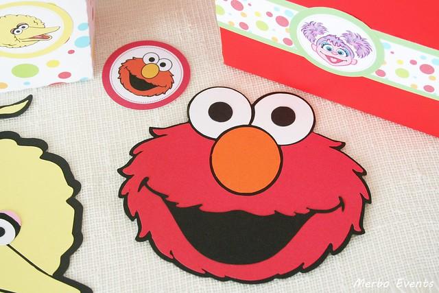 Invitaciones Cumpleaños Elmo Plaza sesamo Merbo Events