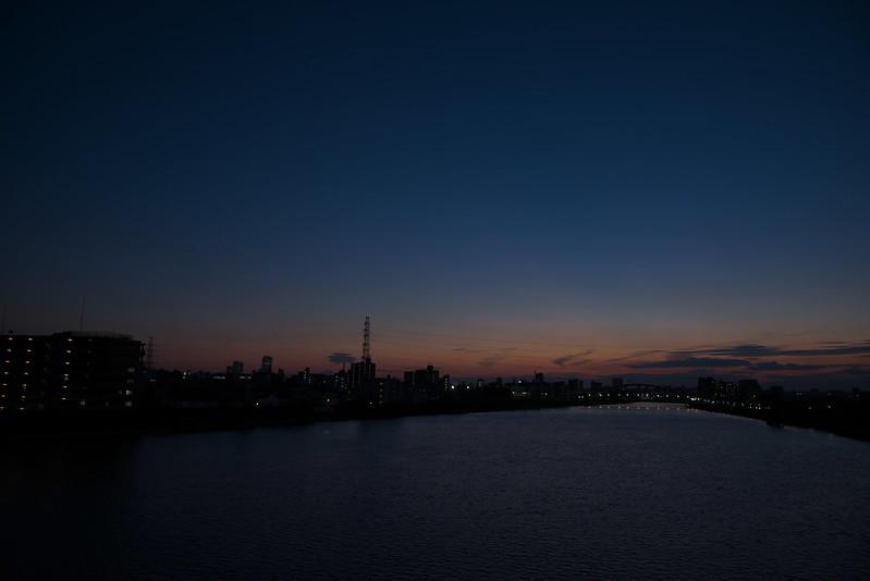 東京路地裏散歩 隅田川・荒川の夕景