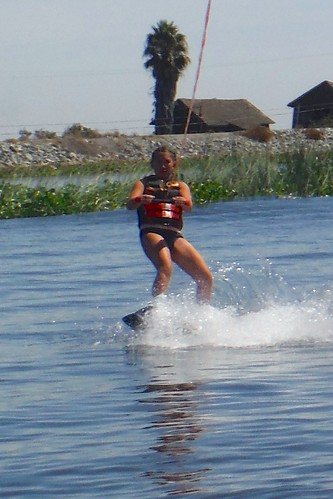 Alejandra wakeboarding