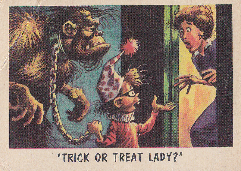 """You'll Die Laughing"" Topps trading cards 1959,  illustrated by Jack Davis (24)"