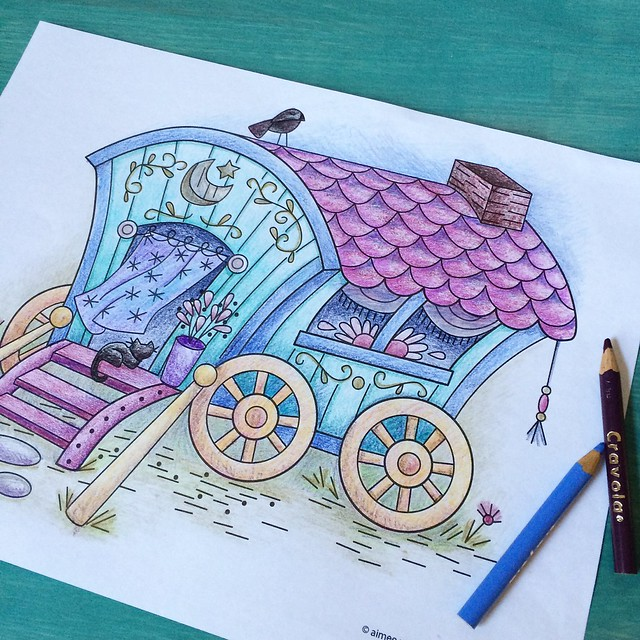 Gypsy wagon coloring page