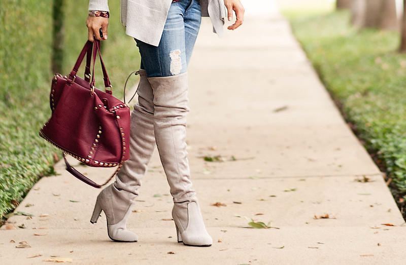 cute & little blog | petite fashion | stuart weitzman highland boots | fall outfit