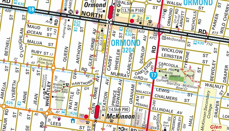 Ormond (Map: Melway online)