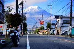 富士吉田市内からの眺め