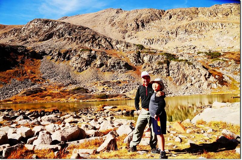 Jacob & me on the Herman Lake shore