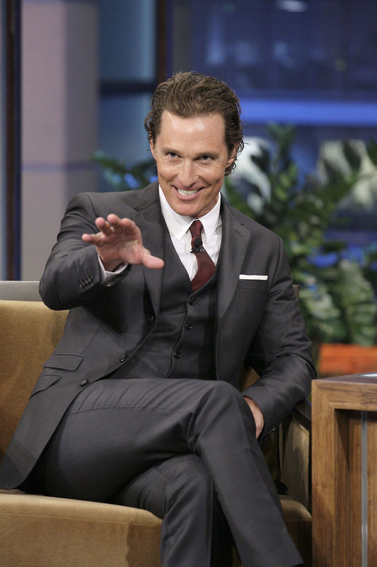 Matthew McConaughy crossed legs