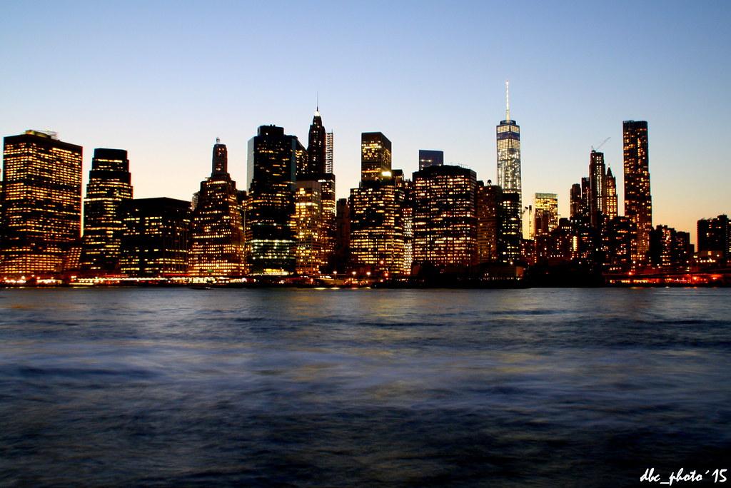 Skyline de Nueva York al atardecer