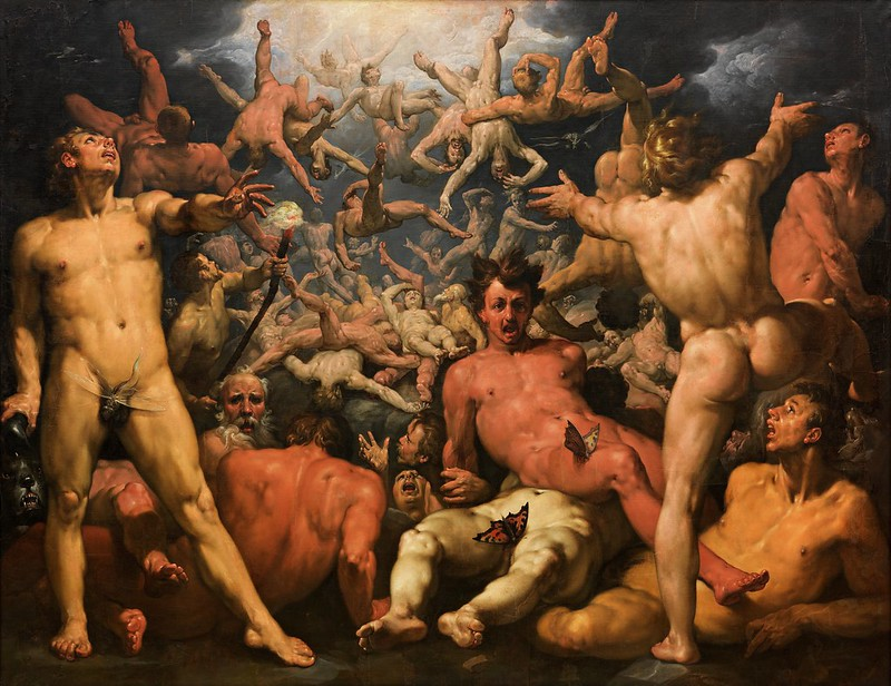 Cornelis Cornelisz. van Haarlem - The Fall of the Titans (c.1589)