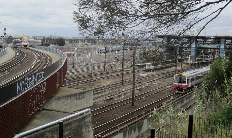 Rail Viewing Platform, near North Melbourne station