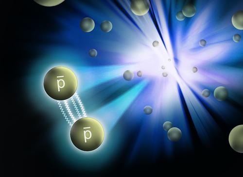 Interacción entre antiprotones