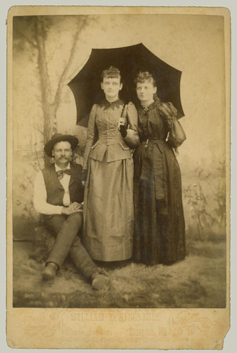 Three on a Cabinet Card