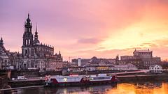 Sunset over Dresden / Semperoper