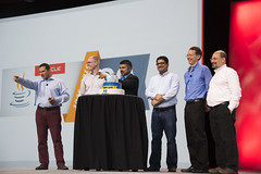 Georges Saab, Robert Clark, Sharat Chander, Anil Gaur, Mark Reinhold and Brian Goetz, Java Keynote, JavaOne 2015 San Francisco