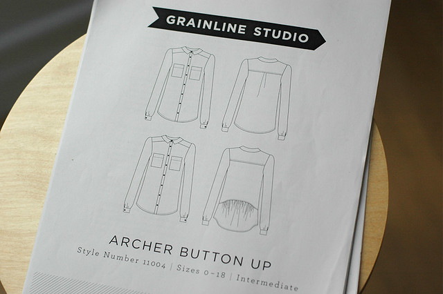Grainline Archer pattern