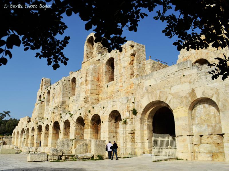Fachada del Odeón de Herodes Ático