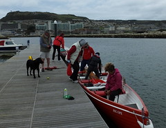 Freezing, windy, wet but we're rowing anyway! :-))