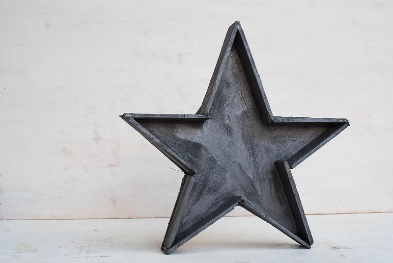Estrella imitando metal