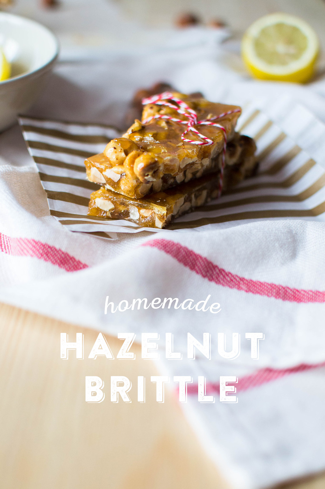 Homemade Hazelnut Brittle