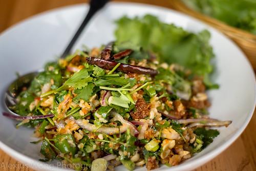 Naem Khao/Crispy Coconut Rice Salad