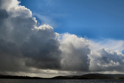 25th September 2016. Storm over Lough Derg at Mountshannon, County Clare, Ireland.
