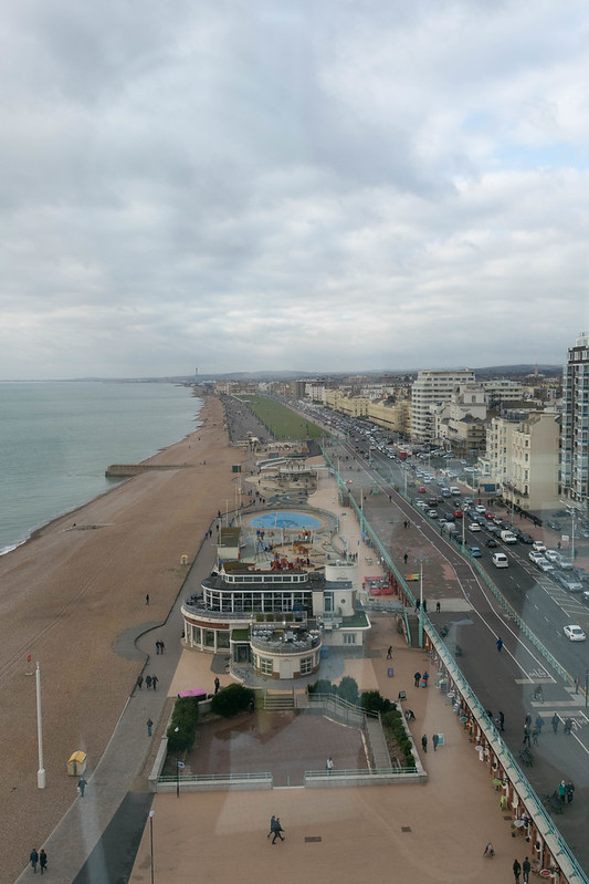 Looking west along the Brighton Coast from the British Airways i360