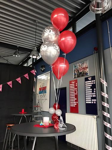 Tafeldecoratie 5ballonnen SC Botlek Spijkenisse