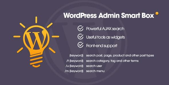 WP Admin Smart Box v1.0 - Powerful AJAX search & tools for WordPress backend