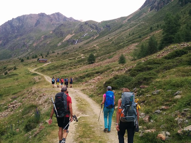 Aufstieg Oberetteshütte