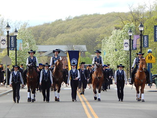 The UConn Morgan Dr5ill Team led the procession at the College's Commencement, May 10, 2015. Photos by Kathy Pelletier.
