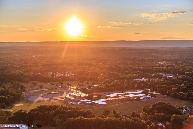 Sunset Over the High School