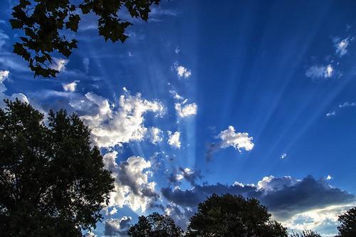 morning blue oklahoma clouds sunrise lightrays