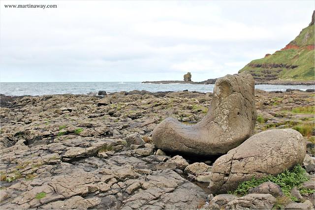 La scarpa del gigante, Giant's Causeway