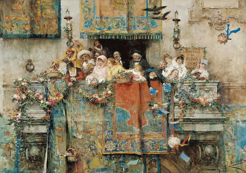 José Benlliure Gil - The Carnival in Rome (1881)