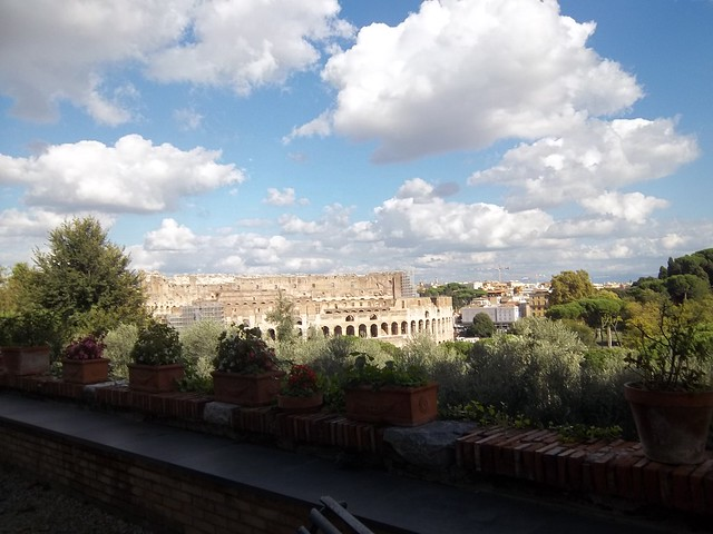 View of the Colosseum, San Bonaventura al Palatino