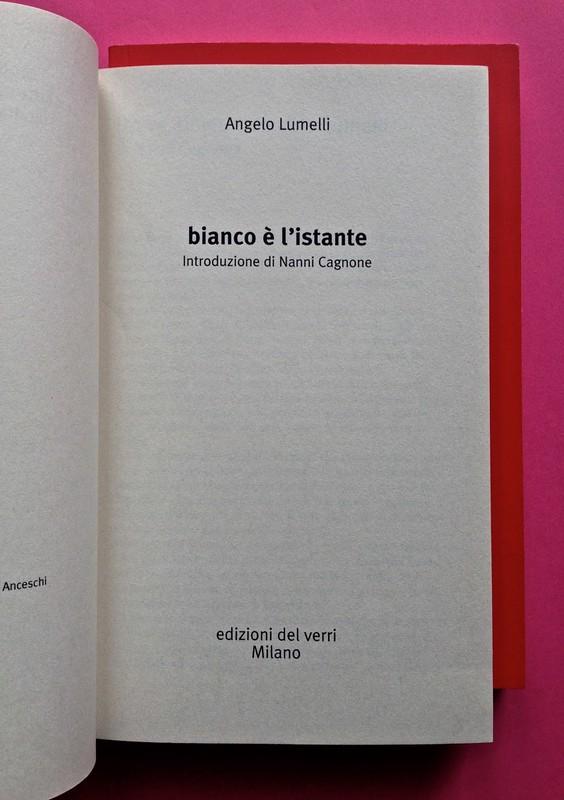 Edizioni del Verri / Collana rossa. Progetto grafico di Valerio Anceschi e Giovanni Anceschi. Frontespizio, a pag. 3 (part.), 3