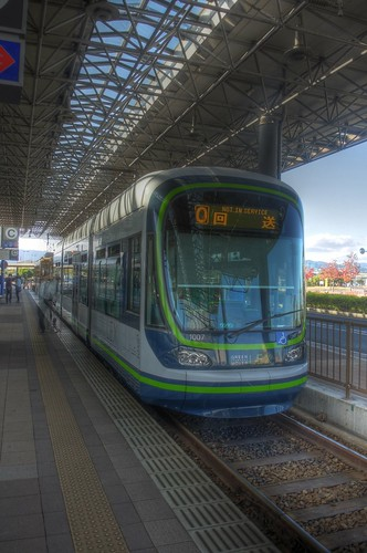 Tramcars at Hiroshima Port on OCT 28, 2015 (11)
