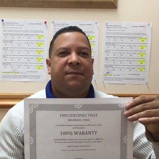 Wilfredo Peña's Business Review and Rating for Municipal Credit Service Corp in Miami FL