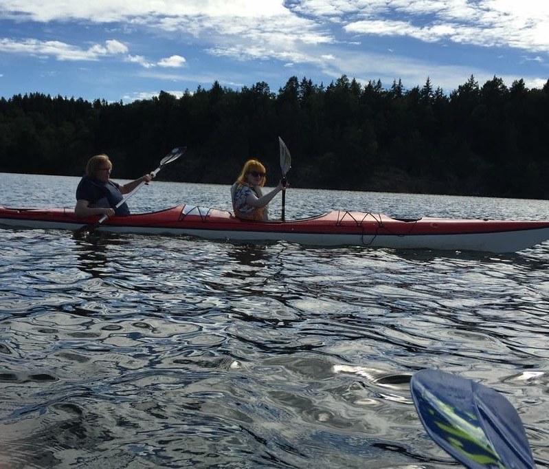Kayaking around Erikso, Vaxholm