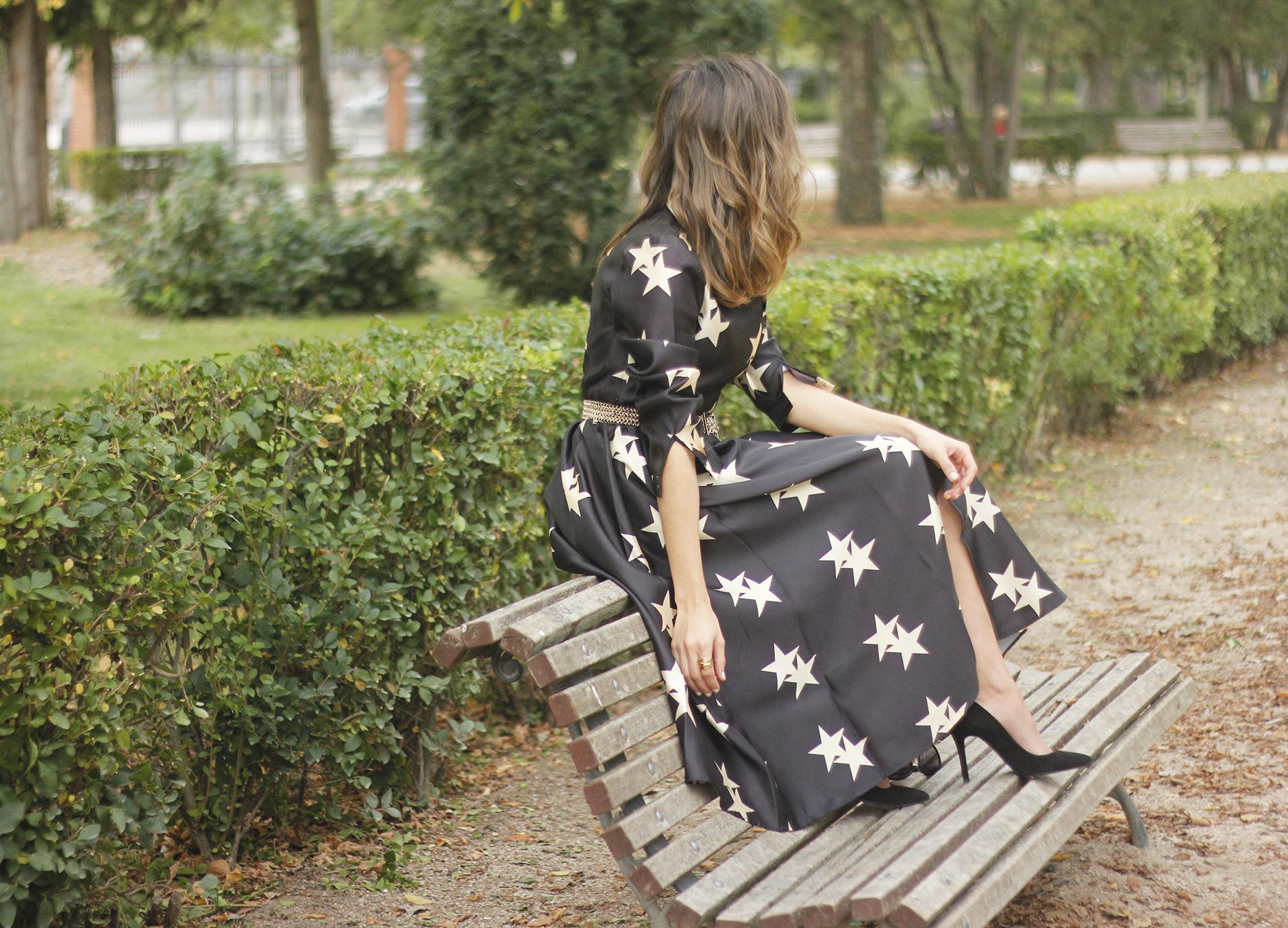 Star Print Dress sunnies heels outfit22