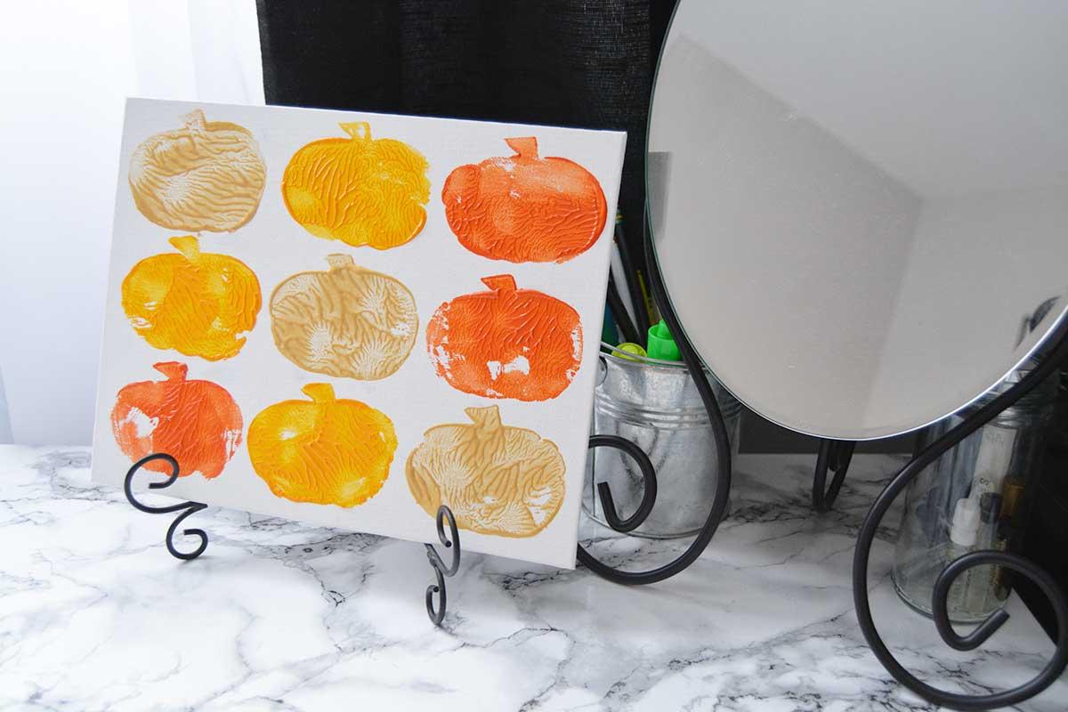 DIY Fall Pumpkin Canvas Print Art