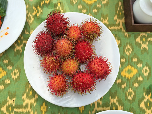 Freshly picked rambutan