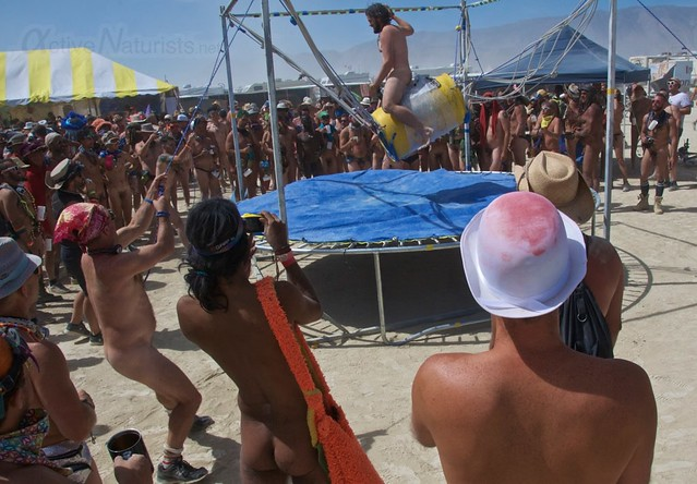 naturist naked pub crawl 0004 Burning Man 2015, Black Rock City, Nevada, USA