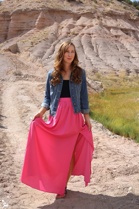 Dresses And Denim Blog Pink Maxi