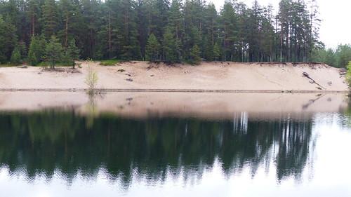 summer reflection finland geotagged pond july fin seinäjoki sandpit 2015 eteläpohjanmaa ylistaro 201507 kokkokangas 20150709 geo:lat=6308057848 geo:lon=2258904933