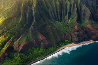 Nā Pali coast, Aerial