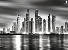 ~ Dubai Marina view from The Palm ~
