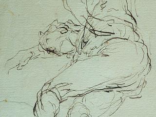 MILLET Jean-François,1850 - Départ pour le Travail, Etude - The Walk to Work  (drawing, dessin, disegno-Louvre RF11191) - Detail 68