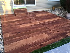 Concrete Wood Patio - Innovative Spaces - South Bend IN