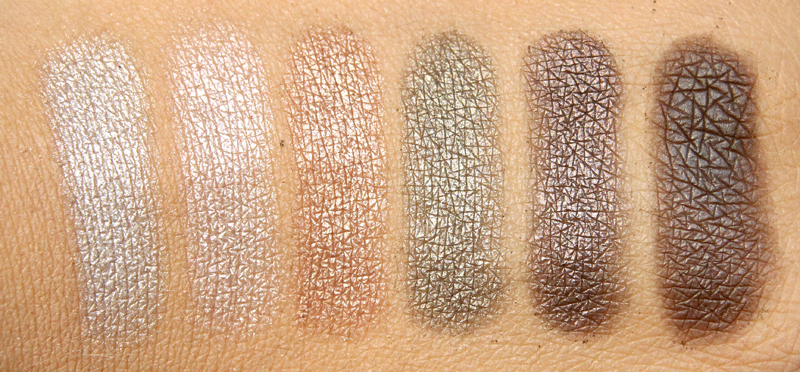 IsaDora Autumn leaves eye color bar swatch